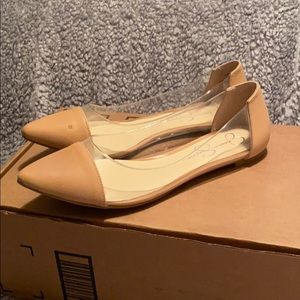 Jessica Simpson Zayra Buttery Leather Flats 9.5